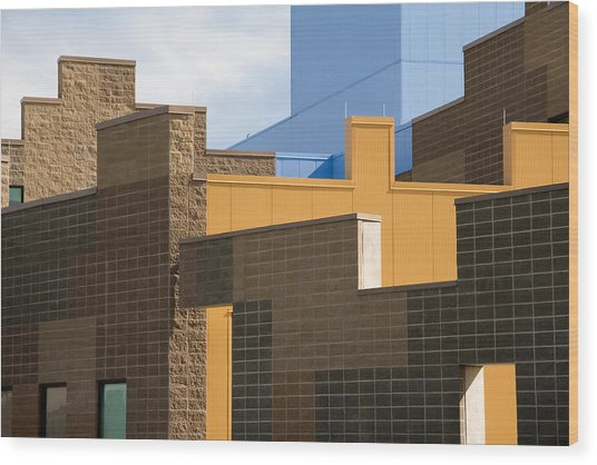 Modern Architecture 2 Wood Print by Steve Ohlsen