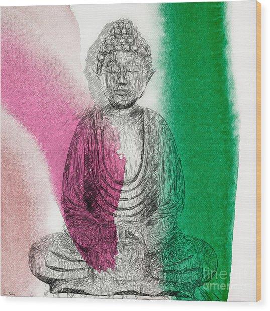 Modern Buddha Wood Print