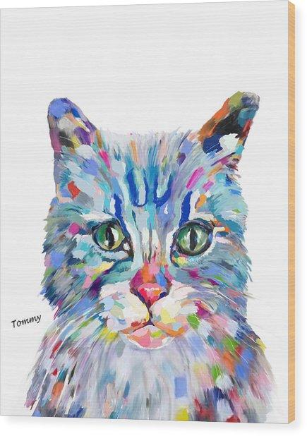 Modern Cat Wood Print