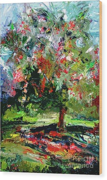 Modern Cherry Tree Contemporary Art  Wood Print