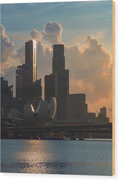 Modern City Wood Print