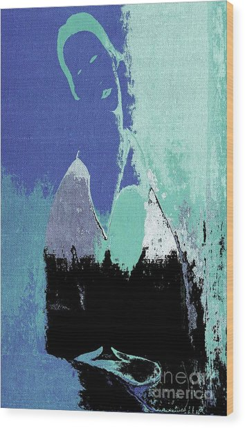 Abstract Portrait - 87t1dc7b Wood Print