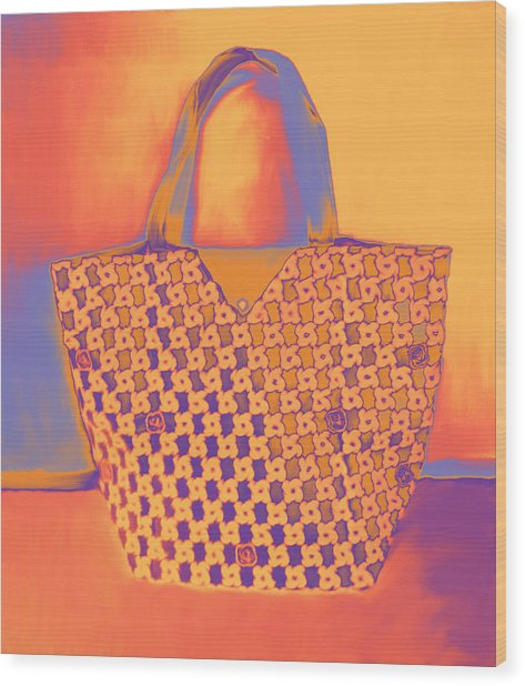 Modern Shopping Bag Wood Print