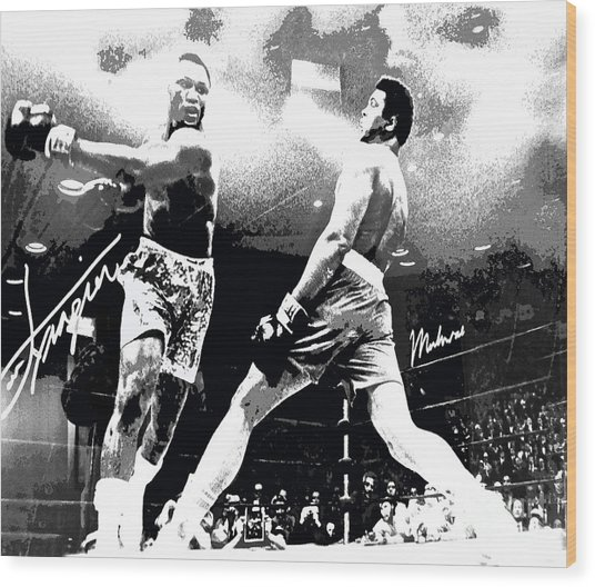 Mohamed Ali Float Like A Butterfly Wood Print