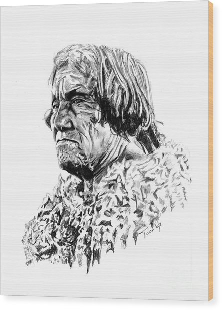 Mohave Man Wood Print