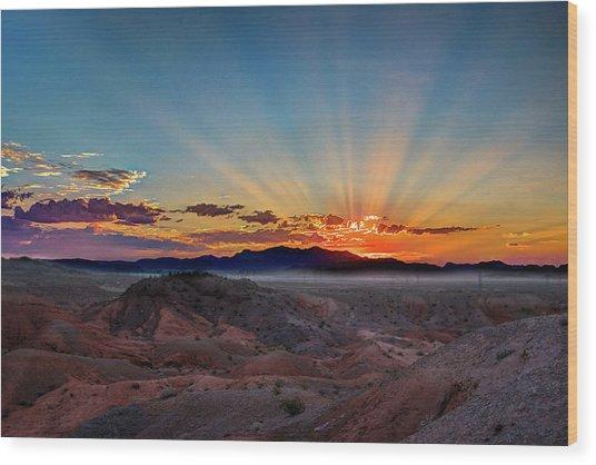Mohave Sunrise Wood Print