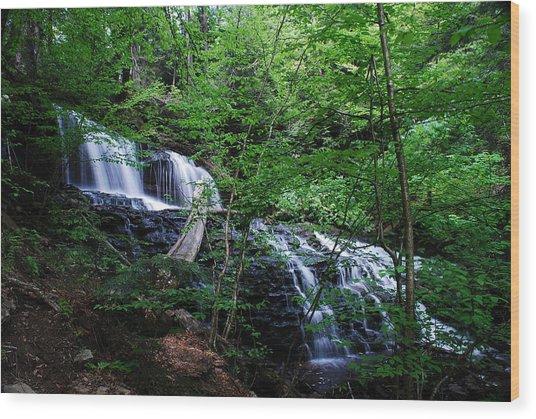 Mohawk Falls Wood Print by Eric Harbaugh
