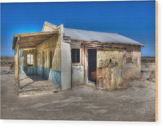 Mojave Times Wood Print