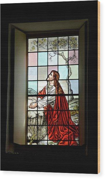 Mokuaikaua Church Stained Glass Window Wood Print
