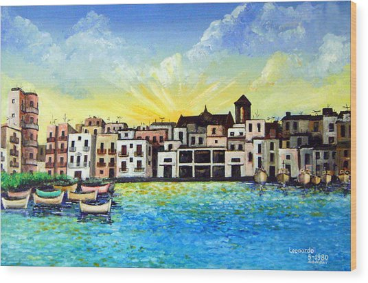 Mola Di Bari 1980 Wood Print