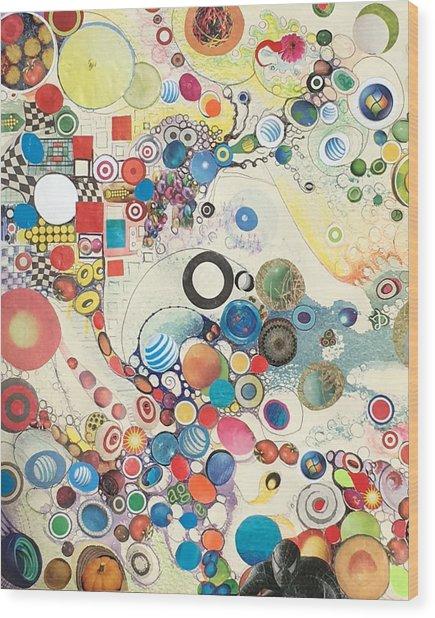 Molecular Geometry Wood Print