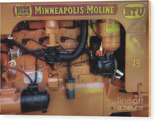 Moline Engine Wood Print