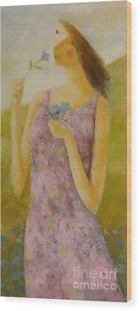Molly Bloom Wood Print