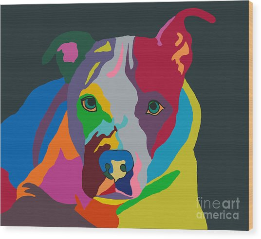 Molly Psychedelic Wood Print