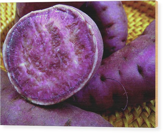 Moloka'i Purple Sweet Potatoes Wood Print by James Temple