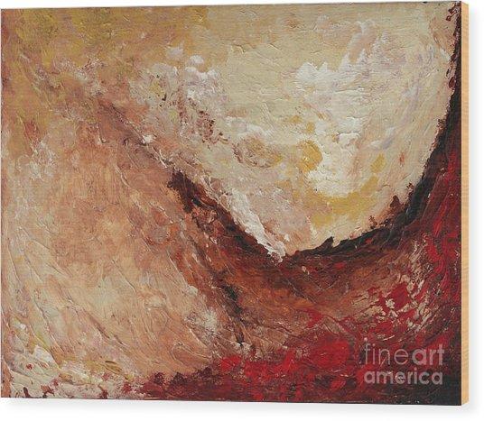 Molten Lava Wood Print