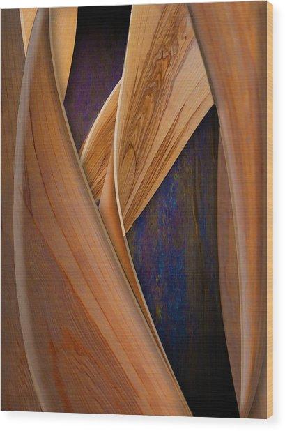 Molten Wood Wood Print