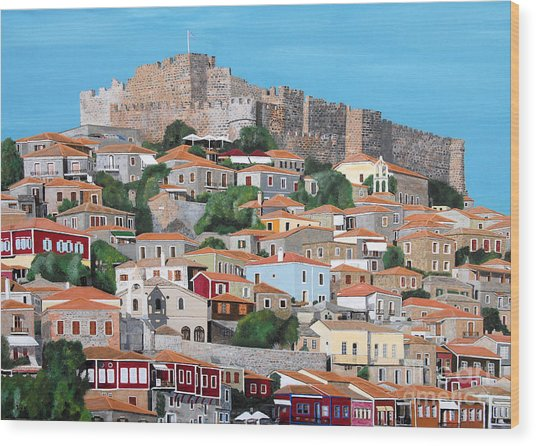 Molyvos Lesvos Greece Wood Print