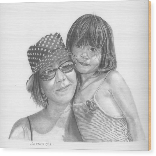 Mom And Me Wood Print by Sue Olson