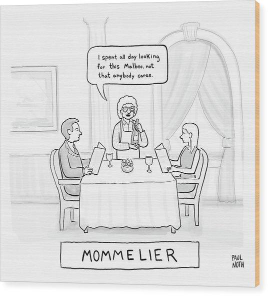Mommelier Wood Print