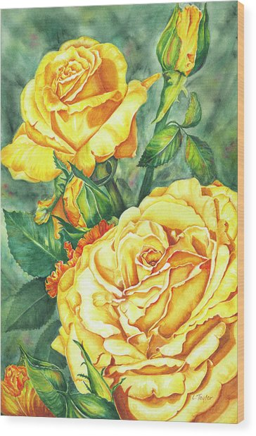 Mom's Golden Glory Wood Print