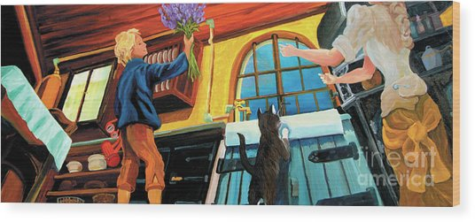 Mom's Kitchen Wood Print
