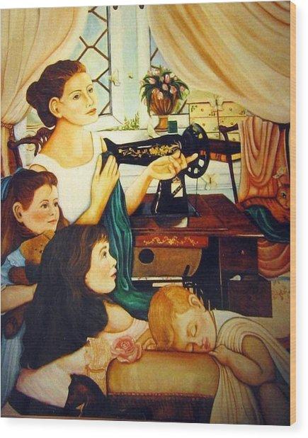 Mom's Sewing Room  Wood Print