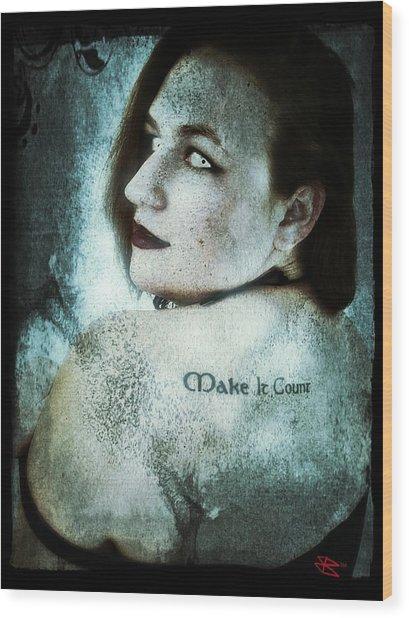 Mona 1 Wood Print