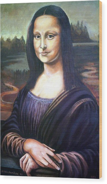 Mona Liisa Wood Print by James Richardson