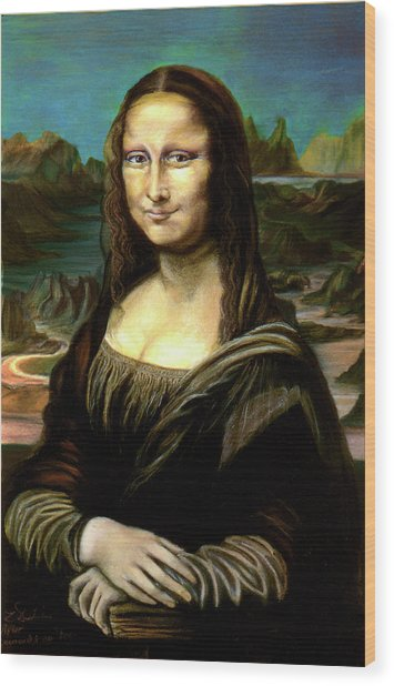 Mona Lisa My Version Wood Print