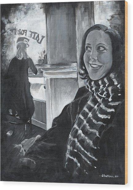 Mona Sandra  Wood Print