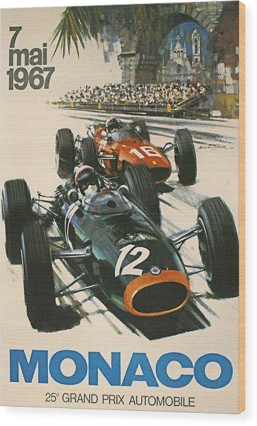 Monaco Grand Prix 1967 Wood Print