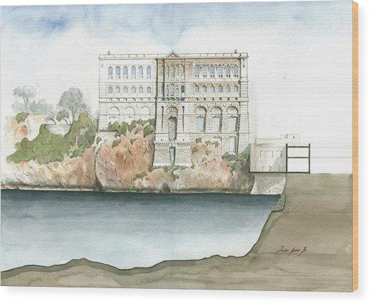 Monaco Oceanographic Museum Wood Print