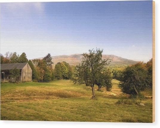 Monadnock Pastoral Wood Print