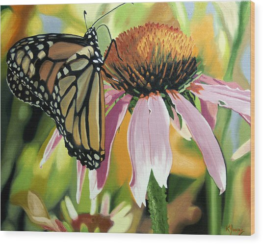 Monarch Wood Print by Kenneth Young