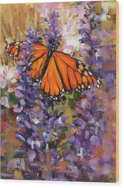 Monarch Wood Print
