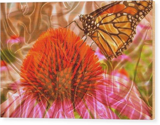 Monarch Mirage Wood Print