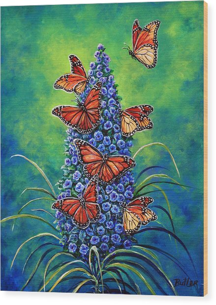 Monarch Waystation Wood Print