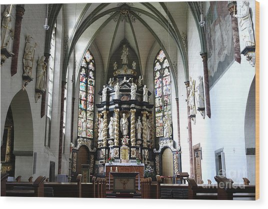 Monastery Church Oelinghausen, Germany Wood Print