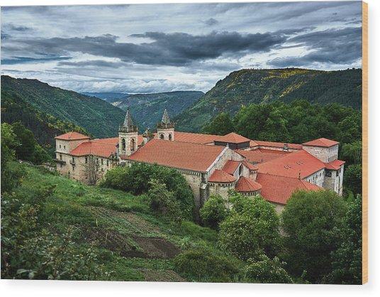 Monastery Of Santo Estevo De Ribas Del Sil Wood Print