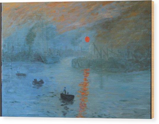 Monet Sunrise By Dg Wood Print