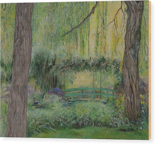 Monet's Bridge Wood Print