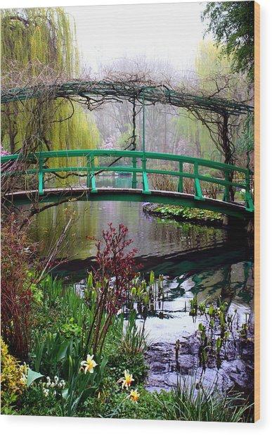 Monet's Magical Bridge Wood Print