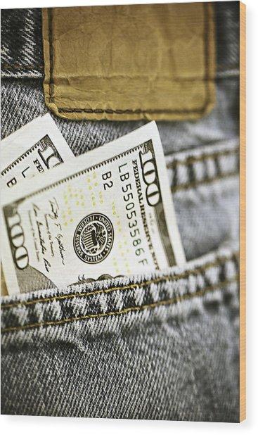 Money Jeans Wood Print