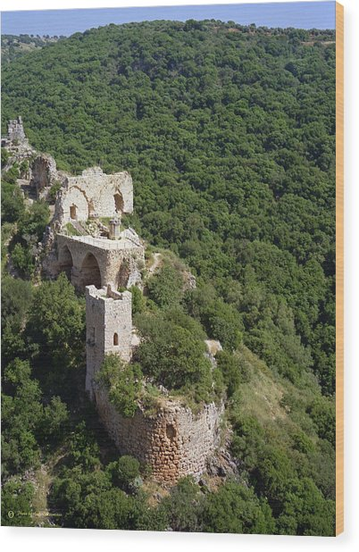 Monfort Fortress. Wood Print