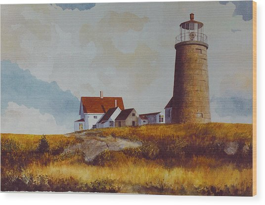Monhegan Light Wood Print
