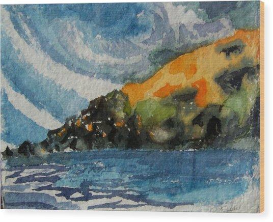 Monhegan Sky Wood Print by Patricia Bigelow