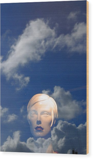 Monica In The Clouds 2 Wood Print by Jez C Self