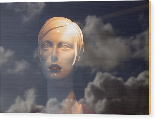 Monica In The Clouds Wood Print by Jez C Self