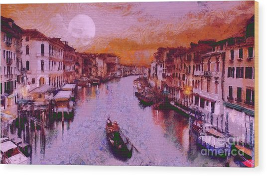 Monkey Painted Italy Again Wood Print